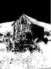 A barn in Bannack, MT